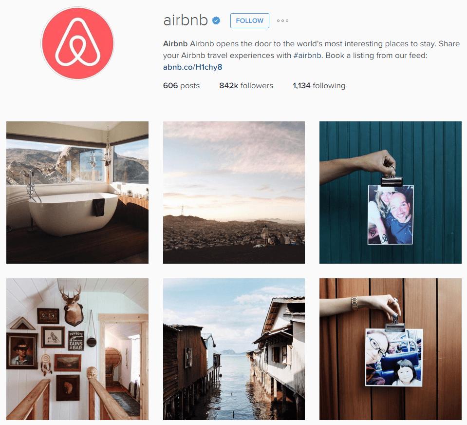 Airbnb Instgram